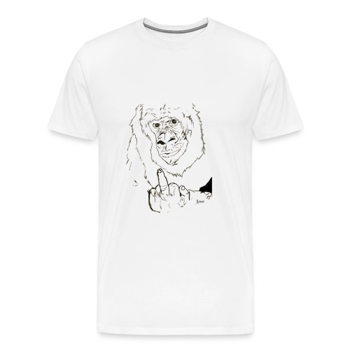 The Fuck Monkey - Men's Premium T-Shirt