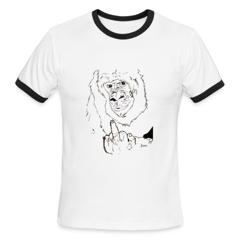 The Fuck Monkey - Men's Ringer T-Shirt