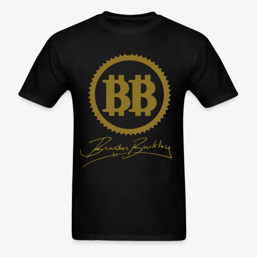 BB Logo Blue Mens GOLD - Men's T-Shirt