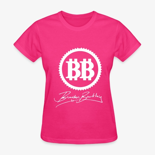 BB Logo White Velvet Womans - Women's T-Shirt