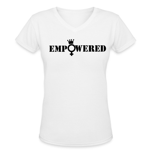 EmPOWERed Queen - Women's V-Neck T-Shirt