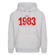 Hoodies ~ Men's Hoodie ~ est. 1983 Nineteen Eighty Three