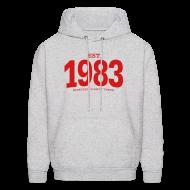 Hoodies ~ Men's Hoodie ~ est. 1983 Nineteen Eighty Three