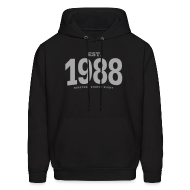 Hoodies ~ Men's Hoodie ~ est. 1988 Nineteen Eighty Eight
