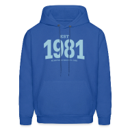 Hoodies ~ Men's Hoodie ~ est. 1981 Nineteen Eighty One