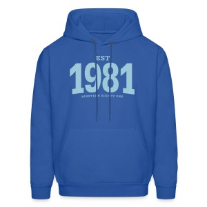 est. 1981 Nineteen Eighty One - Men's Hoodie