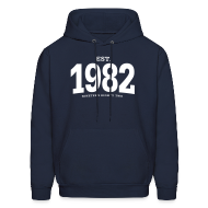 Hoodies ~ Men's Hoodie ~ est. 1982 Nineteen Eighty Two