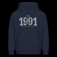 Hoodies ~ Men's Hoodie ~ est. 1991 Nineteen Ninety One