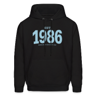 Hoodies ~ Men's Hoodie ~ est. 1986 Nineteen Eighty Six