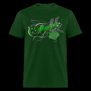 Green Foxx Grunge Mens - Men's T-Shirt