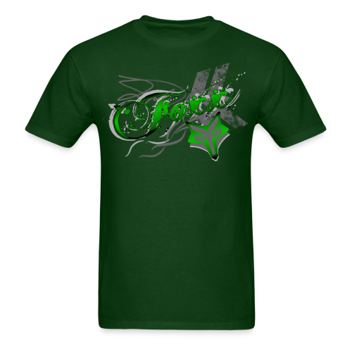 Green Foxx Grunge Mens - Men's T-Shirt