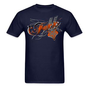 Orange Foxx Grunge Mens - Men's T-Shirt
