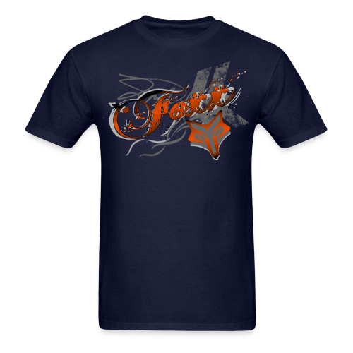 Orange Foxx Grunge Mens - Men's T-Shirt