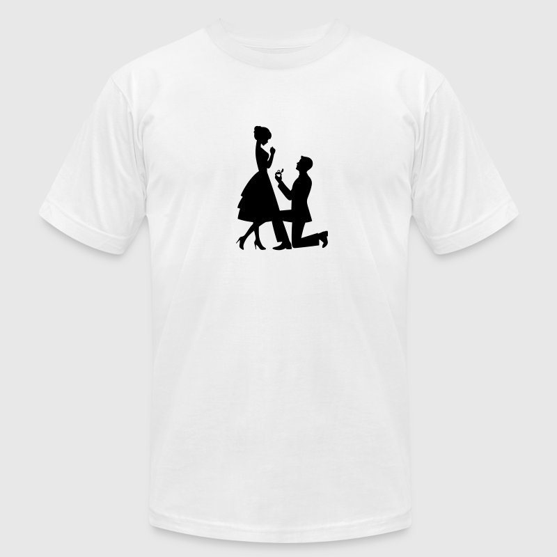 Wedding Proposal (1c)++ T-Shirts - Men's T-Shirt by American Apparel