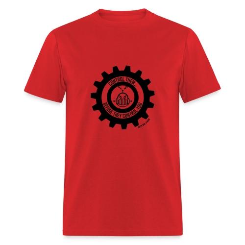 MTRAS Control The Robots Black Tshirt - Men's T-Shirt