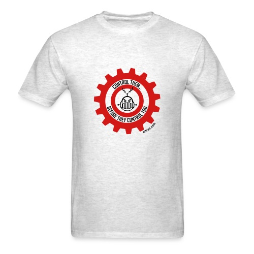 MTRAS Control The Robots Red & Black Tshirt - Men's T-Shirt