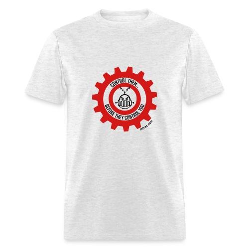 MTRAS Control The Robots Red & Black Tshirt - Men's T-Shirt