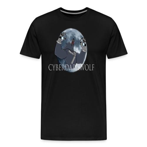 CyberDarkWolf Logo Tee - Men's Premium T-Shirt
