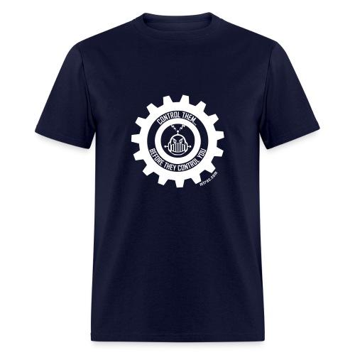 MTRAS Control The Robots White Tshirt - Men's T-Shirt