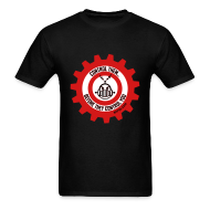 T-Shirts ~ Men's T-Shirt ~ MTRAS Control The Robots Black, Red & White Tshirt