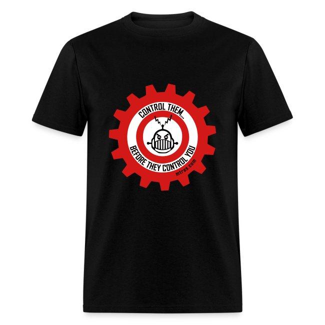 MTRAS Control The Robots Black, Red & White Tshirt
