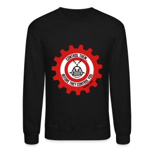 MTRAS Control The Robots Black, Red & White - Sweatshirt - Crewneck Sweatshirt