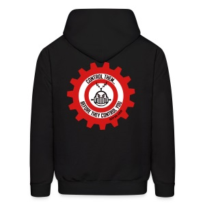 MTRAS Control The Robots Black, Red & White - Hoodie - Men's Hoodie