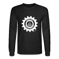 Long Sleeve Shirts ~ Men's Long Sleeve T-Shirt ~ MTRAS Control The Robots White - Long Sleeve Hanes