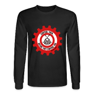 Long Sleeve Shirts ~ Men's Long Sleeve T-Shirt ~ MTRAS Control The Robots Black, Red & White - Long Sleeve Hanes