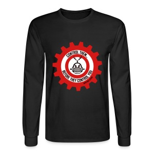MTRAS Control The Robots Black, Red & White - Long Sleeve Hanes - Men's Long Sleeve T-Shirt
