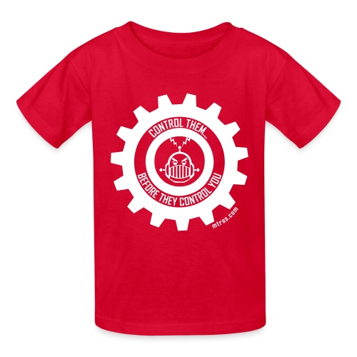 MTRAS Control The Robots White - Kid's Tshirt - Kids' T-Shirt