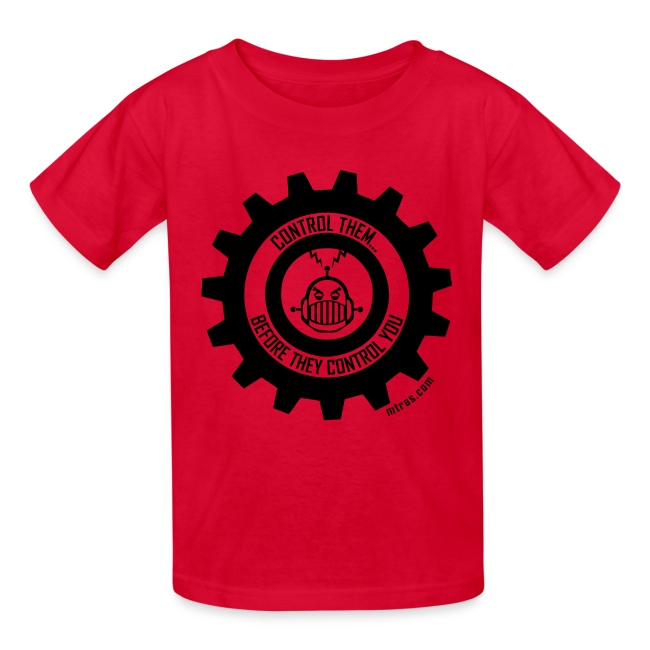MTRAS Control The Robots Black - Kid's Tshirt