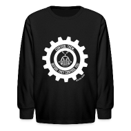 Kids' Shirts ~ Kids' Long Sleeve T-Shirt ~ MTRAS Control The Robots White - Kid's Long Sleeve Tshirt