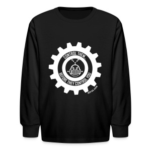 MTRAS Control The Robots White - Kid's Long Sleeve Tshirt - Kids' Long Sleeve T-Shirt