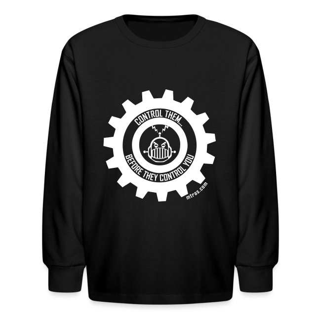 MTRAS Control The Robots White - Kid's Long Sleeve Tshirt