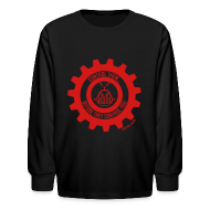 Kids' Shirts ~ Kids' Long Sleeve T-Shirt ~ MTRAS Control The Robots Red - Kid's Long Sleeve Tshirt