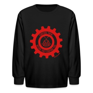 MTRAS Control The Robots Red - Kid's Long Sleeve Tshirt - Kids' Long Sleeve T-Shirt