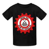 Kids' Shirts ~ Kids' T-Shirt ~ MTRAS Control The Robots Red, White & Black - Kid's Tshirt
