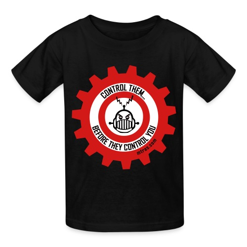 MTRAS Control The Robots Red, White & Black - Kid's Tshirt - Kids' T-Shirt