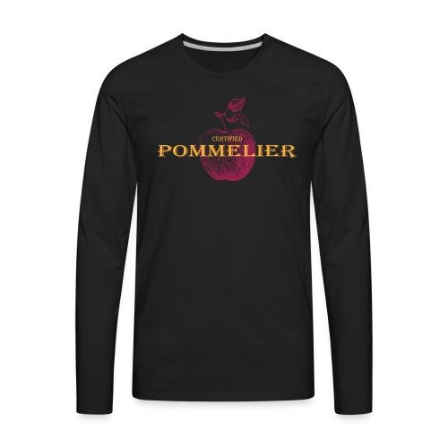 Mens Certified Pommelier Long Sleeve T - Men's Premium Long Sleeve T-Shirt