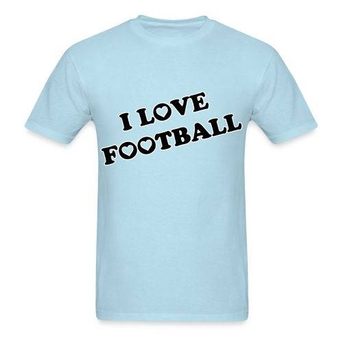I Love Football. TM  Mens Shirt - Men's T-Shirt