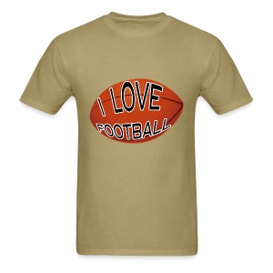 I Love Football Mens Tee - Men's T-Shirt