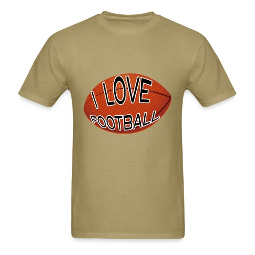I Love Football.  TM  Mens Tee - Men's T-Shirt
