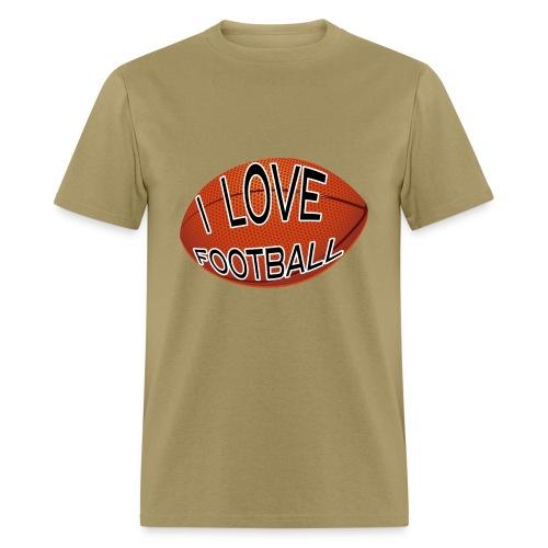 I Love Football.  TM  Mens Tee - Men's T-Shirt