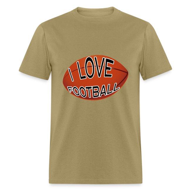 I Love Football.  TM  Mens Tee
