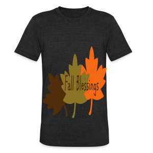 Fall Blessings - Unisex Tri-Blend T-Shirt by American Apparel