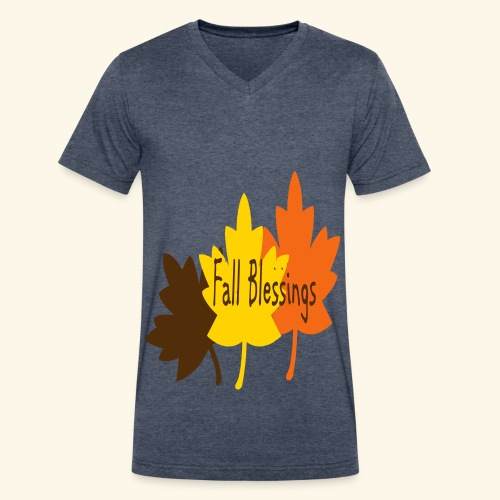 Fall Blessings - Men's V-Neck T-Shirt by Canvas