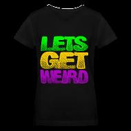 Women's T-Shirts ~ Women's V-Neck T-Shirt ~ Lets Get Weird Girls V Neck
