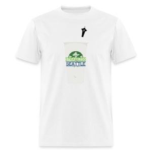 Strawless In Seattle - Men's T-Shirt