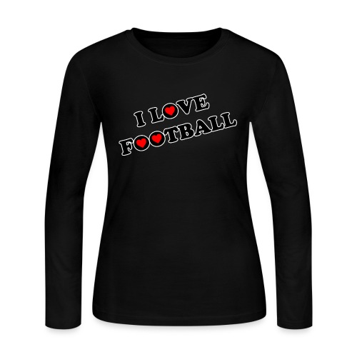 I Love Football Women Jerey tshirt - Women's Long Sleeve Jersey T-Shirt